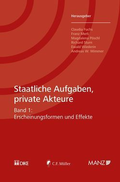 Staatliche Aufgaben, private Akteure von Fuchs,  Claudia, Merli,  Franz, Pöschl,  Magadalena, Sturn,  Richard