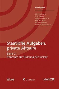 Staatliche Aufgaben, private Akteure von Fuchs,  Claudia, Merli,  Franz, Pöschl,  Magdalena, Sturn,  Richard, Wiederin,  Ewald, Wimmer,  Andreas W.