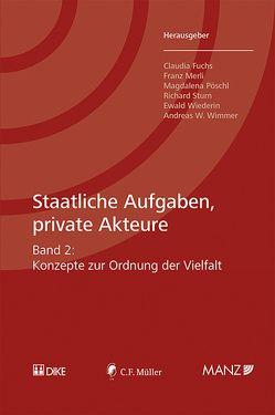 Staatliche Aufgaben, private Akteure von Fuchs,  Claudia, Merli,  Franz, Pöschl,  Magadalena, Sturn,  Richard, Wiederin,  Ewald, Wimmer,  Andreas W.