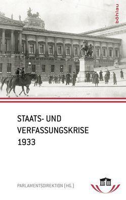 Staats- und Verfassungskrise 1933 von Parlamentsdirektion