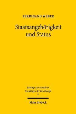 Staatsangehörigkeit und Status von Weber,  Ferdinand