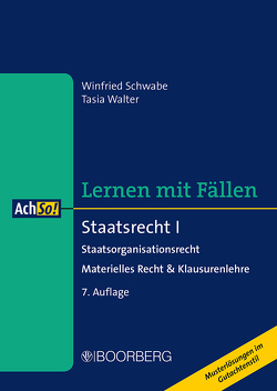 Staatsrecht I von Schwabe,  Winfried, Walter,  Tasia