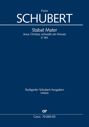 Stabat Mater (Klavierauszug) von Schubert,  Franz