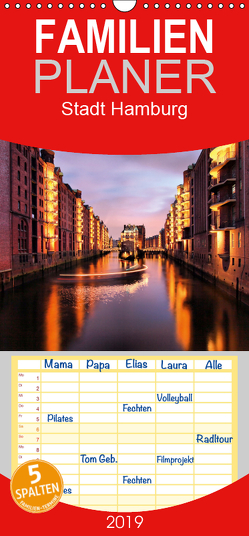 Stadt Hamburg – Familienplaner hoch (Wandkalender 2019 , 21 cm x 45 cm, hoch) von Thomas Deter,  ©