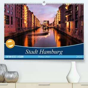 Stadt Hamburg (Premium, hochwertiger DIN A2 Wandkalender 2021, Kunstdruck in Hochglanz) von Thomas Deter,  ©