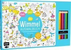 Stadt, Land, Fluss – Das Wimmel-Ausmalbuch von Cortinas,  Ruth