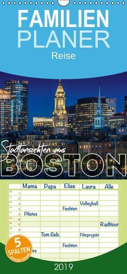 Stadtansichten aus Boston – Familienplaner hoch (Wandkalender 2019 , 21 cm x 45 cm, hoch) von Viola,  Melanie