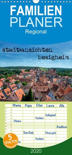 stadt:ansichten besigheim – Familienplaner hoch (Wandkalender 2020 , 21 cm x 45 cm, hoch) von Pfeiffer,  Ralf