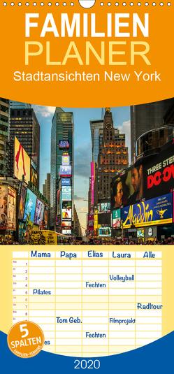 Stadtansichten New York – Familienplaner hoch (Wandkalender 2020 , 21 cm x 45 cm, hoch) von Meutzner,  Dirk