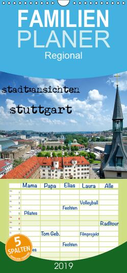 stadtansichten stuttgart – Familienplaner hoch (Wandkalender 2019 , 21 cm x 45 cm, hoch) von Pfeiffer,  Ralf