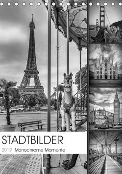 STADTBILDER Monochrome Momente (Tischkalender 2019 DIN A5 hoch) von Viola,  Melanie