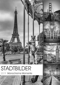 STADTBILDER Monochrome Momente (Wandkalender 2019 DIN A2 hoch) von Viola,  Melanie