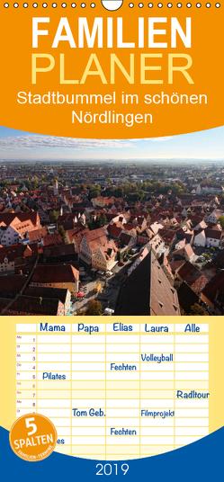 Stadtbummel im schönen Nördlingen – Familienplaner hoch (Wandkalender 2019 , 21 cm x 45 cm, hoch) von Cross,  Martina