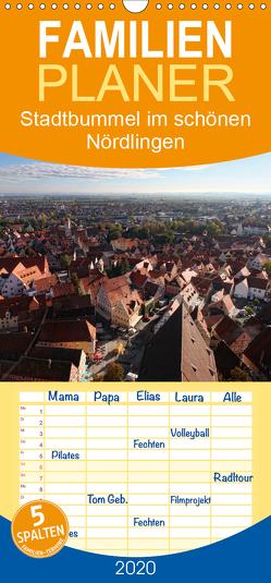 Stadtbummel im schönen Nördlingen – Familienplaner hoch (Wandkalender 2020 , 21 cm x 45 cm, hoch) von Cross,  Martina