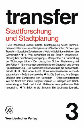 Stadtforschung und Stadtplanung von Böhret,  Carl