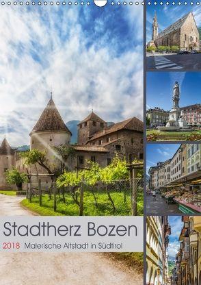 Stadtherz BOZEN (Wandkalender 2018 DIN A3 hoch) von Viola,  Melanie