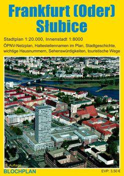 Stadtplan Frankfurt (Oder) und Słubice von Bloch,  Dirk