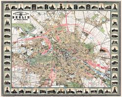 Stadtplan Monumentalplan der Reichshauptstadt Berlin 1896 von Heller,  M.