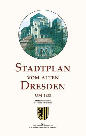 Stadtplan vom alten Dresden um 1935 von Schmidt,  Michael