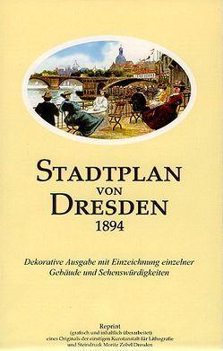 Stadtplan von Dresden 1894 von Schmidt,  Michael