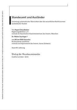 Standesamt und Ausländer von Brandhuber,  Rubert, Heussler,  M Law Willi, Zeyringer,  Walter