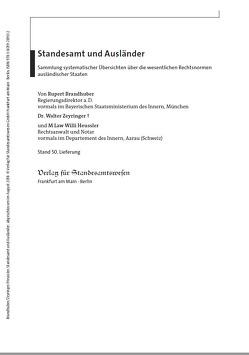 Standesamt und Ausländer von Brandhuber,  Rupert, Heussler,  Willi, Zeyringer,  Walter