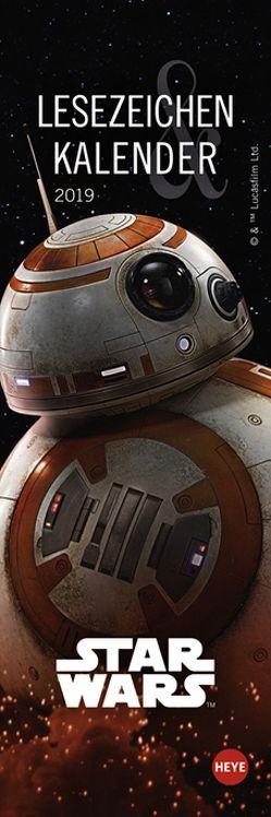 Star Wars Lesezeichen & Kalender – Kalender 2019 von Heye