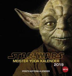 STAR WARS Meister Yodas Weisheiten Postkartenkalender – Kalender 2019 von Heye