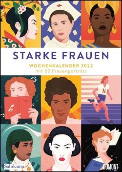 Starke Frauen Wochenkalender 2022 – Porträts und Biografisches auf 53 Wochenblättern – Format 21,0 x 29,7 cm – Spiralbindung