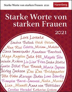 Starke Worte von starken Frauen Kalender 2021 von Durdel-Hoffmann,  Sabine, Harenberg, Lotz,  Brigitte