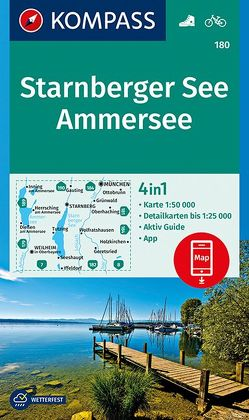 Starnberger See, Ammersee von KOMPASS-Karten GmbH