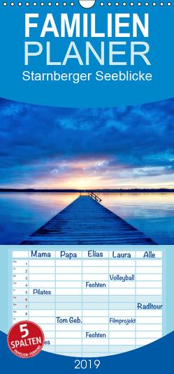 Starnberger Seeblicke – Familienplaner hoch (Wandkalender 2019 , 21 cm x 45 cm, hoch) von Freitag,  Luana