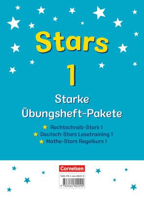 STARS – starke Übungshefte – Übungsheftpakete Deutsch und Mathematik / 1. Schuljahr – 3 Übungshefte im Paket mit Lösungen