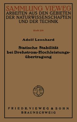 Statische Stabilität bei Drehstrom-Hochleistungsübertragung von Leonhard,  Adolf