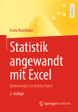 Statistik angewandt mit Excel von Kronthaler,  Franz