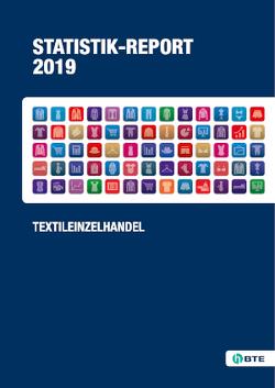 Statistik-Report Textileinzelhandel 2019 von Anders,  Anja