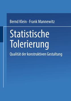 Statistische Tolerierung von Klein,  Bernd, Mannewitz,  Frank