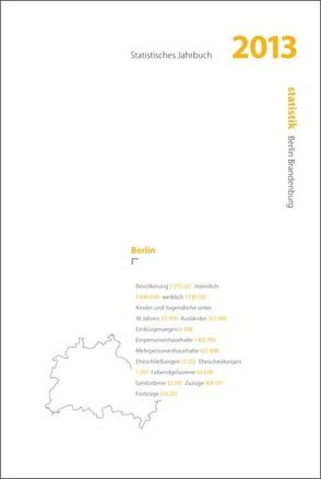 Statistisches Jahrbuch 2013 Berlin Buch und CD-ROM