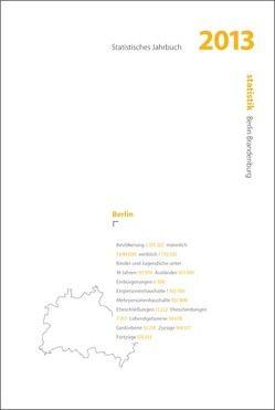 Statistisches Jahrbuch 2013 Berlin