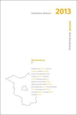Statistisches Jahrbuch 2013 Brandenburg Buch und CD-ROM