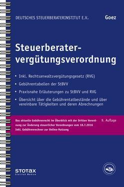 Steuerberatervergütungsverordnung von Goez,  Christoph