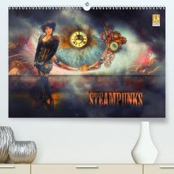 Steampunks (Premium, hochwertiger DIN A2 Wandkalender 2021, Kunstdruck in Hochglanz) von Meutzner,  Dirk