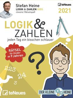 Stefan Heine Logik & Zahlen 2021 – Tagesabreißkalender – 11,8×15,9 – Logikkalender – Rätselkalender – Knobelkalender von Heine,  Stefan