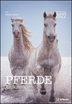 Stefan Heine Pferde Quizkalender 2022 Wochenkalender – Quizkalender – Rätselkalender – Jede-Woche-neue-Rätsel – Tierkalender – 23,7×34 von Heine,  Stefan