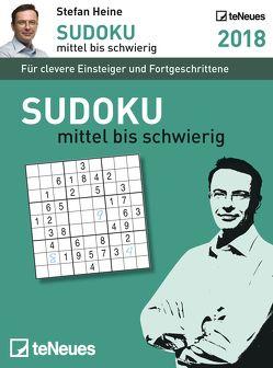 Stefan Heine Sudoku mittel bis schwer 2018 Tagesab von Heine,  Stefan
