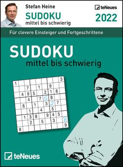 Stefan Heine Sudoku mittel bis schwierig 2022 – Tagesabreißkalender -11,8×15,9 – Rätselkalender – Knobelkalender von Heine,  Stefan