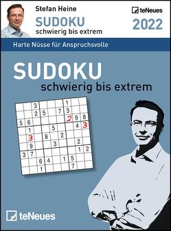 Stefan Heine Sudoku schwierig bis extrem 2022 – Tagesabreißkalender -11,8×15,9 – Rätselkalender – Sudokukalender von Heine,  Stefan