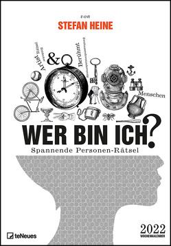Stefan Heine Wer bin ich? 2022 Wochenkalender – Quizkalender – Rätselkalender – Jede-Woche-neue-Rätsel – 23,7×34 von Heine,  Stefan