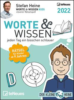 Stefan Heine Worte & Wissen 2022 – Tagesabreißkalender – 11,8×15,9 -Rätselkalender – Tischkalender von Heine,  Stefan