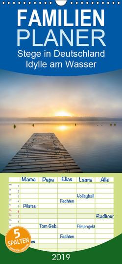 Stege in Deutschland – Idylle am Wasser – Familienplaner hoch (Wandkalender 2019 , 21 cm x 45 cm, hoch) von Wasilewski,  Martin
